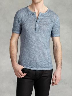 John Varvatos - Cold Water Dye Henley Shirt