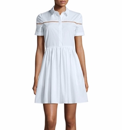 Burberry London - Short-Sleeve Button-Front Shirtdress