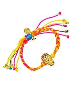 Max & Chloe - Skull & Multicolor Macrame Friendship Bracelet