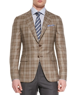 Isaia - Plaid Two-Button Jacket