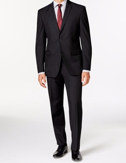 Andrew Marc - Slim-Fit Black Tonal Suit