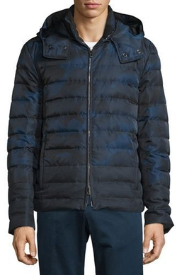 Valentino - Zip-Front Hooded Puffer Coat