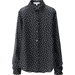 Uniqlo - Georgette Long Sleeve Blouse