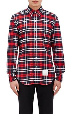 Thom Browne  - Plaid Oxford Cloth Shirt