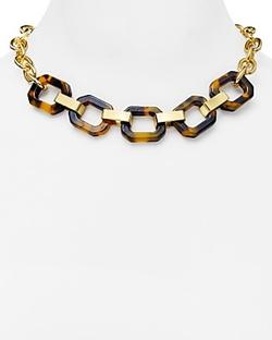 Lauren Ralph Lauren  - Faux Tortoise Shell Chain Necklace