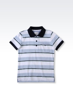 Armani Junior - Striped Jersey Polo Shirt