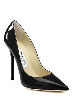Jimmy Choo - Anouk Patent Leather Point-toe Pumps