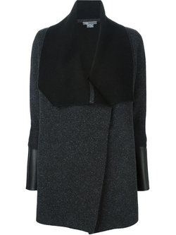 Vince - Sleeve Leather Panel Cardigan