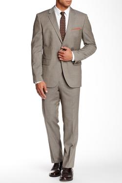 Hugo Boss - Sharkskin Two Button Notch Lapel Wool Suit
