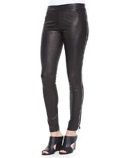 Vince - Side-Zip Leather Leggings