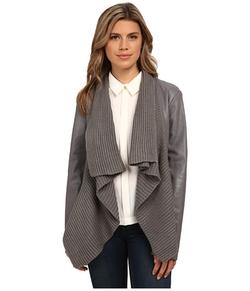 BB Dakota - Drape Front Sarafina PU Jacket