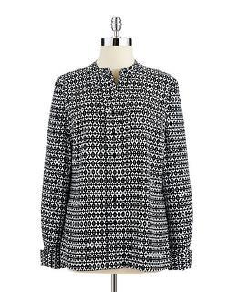 Calvin Klein  - Patterned Button-down Blouse