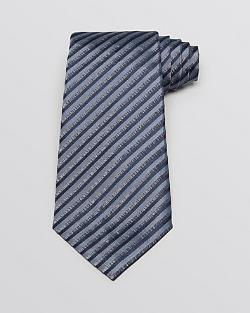 Armani Collezioni - Diagonal Feeder Stripe Classic Tie