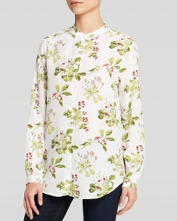 Equipment Blouse - Henri Sprig Print Silk Top