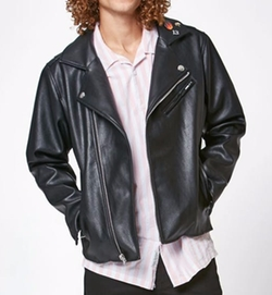 PacSun Denim - Tri Moto Zip PU Jacket