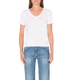 Maje - Tiboty Linen-Jersey T-Shirt