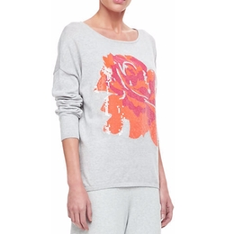 Joan Vass - Sequin Dolman Sleeve Sweater