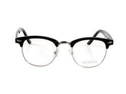 Goson - Classic Half Frame Horn Rimmed Clear Lens Glasses