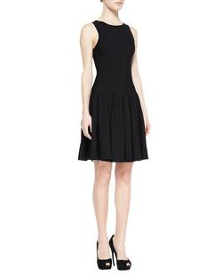 Alexander McQueen  - Sleeveless Dropped-Waist Dress