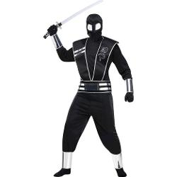 Fun World Costumes  - Adult Silver Mirror Ninja Costume
