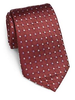 Armani Collezioni - Diamond Print Silk Tie