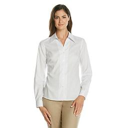 Evan Picone - Easy Care Long Sleeve Button Down Woven Shirt