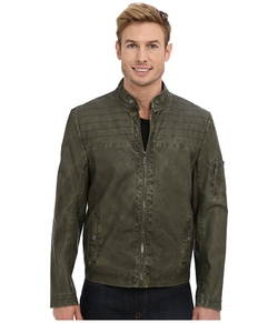 Kenneth Cole Reaction - Faux Leather Moto Jacket