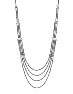 Lucky Brand - Silvertone Multi-Chain Necklace