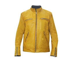 LP-FACON - Dirk Gently Holistic Detective Agency Yellow Leather Jacket