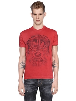 Dsquared2 - Faded Cotton Jersey T-Shirt