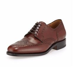 Salvatore Ferragamo - Nilsson Tramezza Calfskin Oxford Shoes