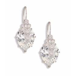 Anzie  - Classique Pear Topaz Sapphire Drop Earrings