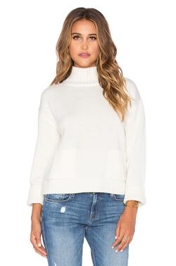 Frame Denim - Le Crop Patch Pocket Sweater