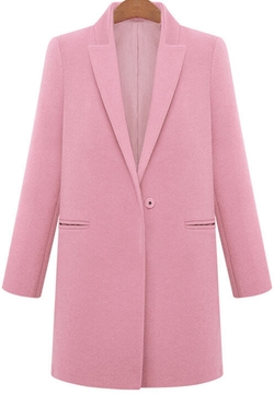 Romwe - Lapel Loose Woolen Coat