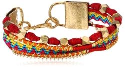 Mercedes Salazar - Blue and Brown Multi-Strand Bracelet