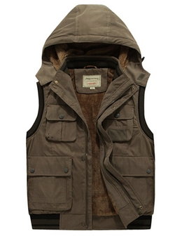 Amcupider - Fleece Hooded Vest