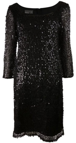 Muse - Sequined Mesh Dress