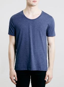 Topman - Marl Scoop Neck Classic Fit T-Shirt
