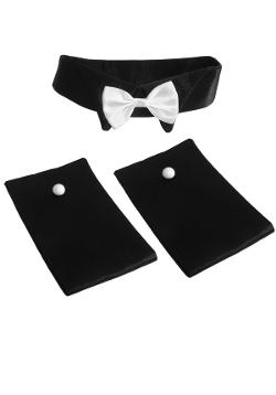 FREGG HOMME  - Costume Cuffs and Collar with Bow Tie