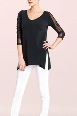 Clara Sunwoo - Sheer Sleeve Top