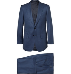 Lutwyche - Navy Puppytooth Wool Suit