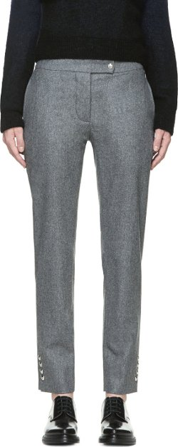 Moncler Gamme Blue - Grey Wool Ski Trousers