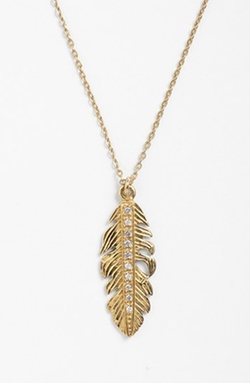 Melinda Maria - Small Feather Pendant Necklace