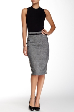 Amanda & Chelsea - Boucle Tweed Pencil Skirt