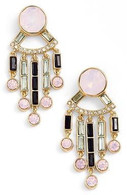 Kate Spade New York  - Clink Of Ice Jeweled Fringe Drop Earrings