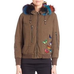 Jocelyn - Two-In-One Butterfly Bomber Jacket