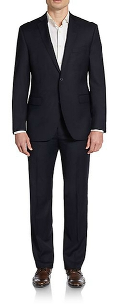 Saks Fifth Avenue RED  - Trim-Fit Striped Wool Suit