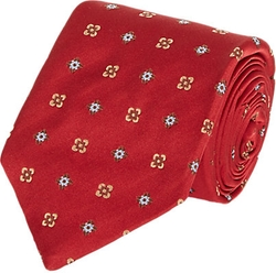 Isaia  - Medallion & Floral-Pattern Neck Tie