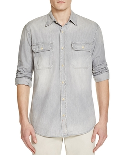 Jean Shop - Chambray Button Down Shirt