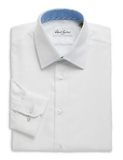 Robert Graham  - Clark Textured Cotton Dress Shirt